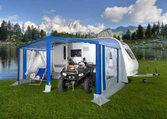 Tendalino veranda roulotte modello orizzonte tendalini per caravan mikite - Veranda pour roulotte ...