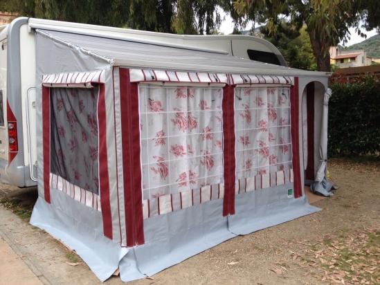 veranda per camper su tendalino